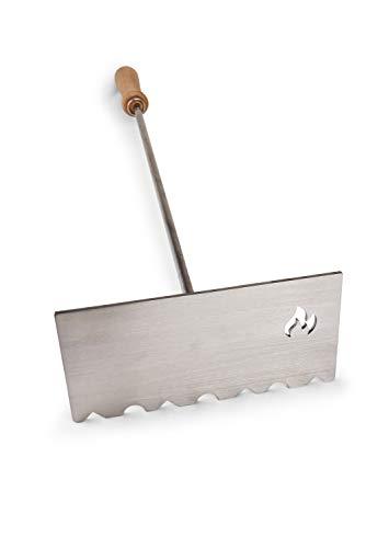 60cm, divisible,–Raspador de ceniza/Raspador de ceniza/carbón/brasas deslizante/Atizador–de acero inoxidable macizo–Plan selladas–Fabricado en...