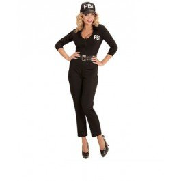 �Kostüm Agent FBI, schwarz, Small (Französische Gendarm Kostüm)