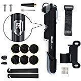 Mini Fahrradpumpe, Zoegate Fahrrad Luftpumpe Multitool Multifunktionswerkzeug Mini Bike Pumpe 120PSI Teleskopische für Presta & Schrader mit Glueless Puncture Repair