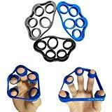 Airisland Fingerstrecker, Widerstansbänder für Fingerübungen, zur Stärkung der Finger, Set für Arthritis Karpaltunnelsyndrom, Gitarrespielen und Klettern, 3 Stück