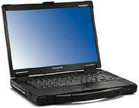 Refurbished semi ruggardised Panasonic Toughbook CF-52 DUAL CORE Core 2 duo 1.8GHz semi ruggardised laptop. 2GB of RAM, 80GB Hard drive, WIFI, DVD-RW drive, RS232 serial port, 15.4