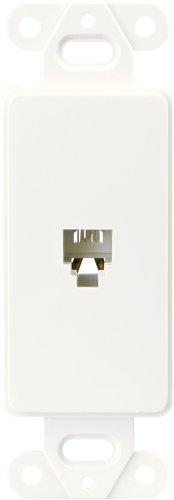 Cooper verkabelungsgeräten Decorator Einsatz Single Telefon Jack mit 4-conductors, 3560-4W (Single Wiring Cooper)