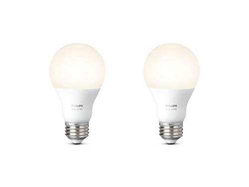 Philips Lighting Hue White Lampadine LED, Attacco E27, 9 W, 2 Pezzi,...