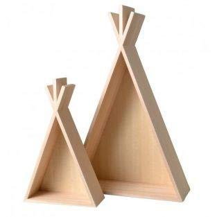 Artemio 2 Mensole in legno Tipi - 45 e 26 cm