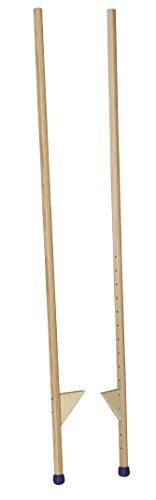 Pedalo® Stelzen 170 cm I 120 kg belastbar I Antirutsch Holzstelzen I Kinder bis Erwachsene (170 cm)