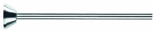 Spirella Teleskop Duschstange Duschvorhangstange, Teleskopstange Verstellbereich 75-125 cm, Ø12,7cm, Edelstahl - zum kleben oder bohren - mit passenden Duschvorhangringen