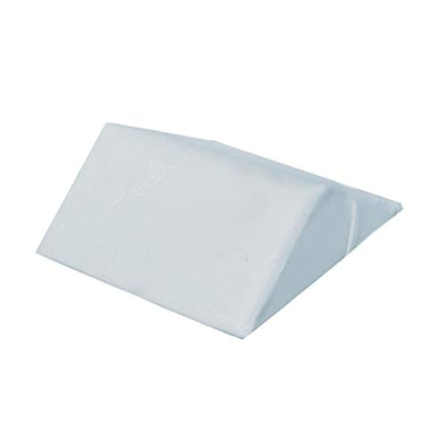 CZWYF Bed Wedge Pillow Memory Foam Top, kuschelige Form (20x19.05x6inches) Ideal zum Schlafen, Lesen, Ausruhen oder Elevation - atmungsaktiv und waschbar. Abdeckung/Weiß, Grau (Color : B) - 6-zoll-wedge