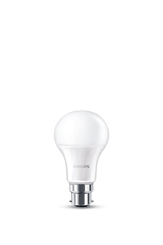 Philips B22 Bayonet LED Light Bulb, 14 W, 230 V - Warm White Frosted, Pack of 10