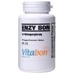 Enzy Bon hochdosiertes Multienzym 100 magensaftresistente Tabletten mit Bromelain 900mg, Papain 1150mg, Trypsin, Alpha-chymotrypsin, Pancreatin, Amylase, Lipase Europäisches Nahrungsergänzungsmittel