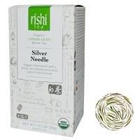 Rishi Tea, Orgánico Blanco té, Plata Aguja, hoja suelta para té, 41,7 ml (40 g)