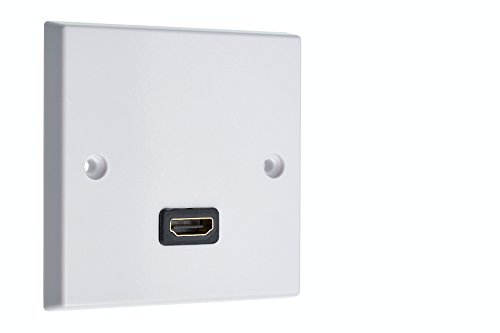 HDMI x 1AV Audio Wall Face Plate-Weiß weiblich zu weiblich Gang-home-theater -