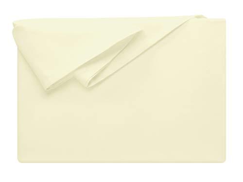 npluseins Bettlaken - 100% Baumwolle - in 5 Farben - in 3 Verschiedenen Größen - Haushaltstuch...