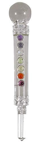 HARMONIZE Equilibrio de Chakra Siete Cristalinas de cuarzo Varita curativo de Cristal Aura