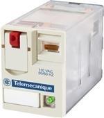 Schneider Electric RXM2AB3F7 Mini-Relais, LED, 120 V, Miniatur-Steckrelais, Zelio Rxm, 2 C/O, 120 V AC, 12 A, mit LED -