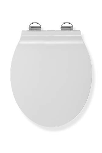 Croydex Flexi-Fix Michigan Slimline immer passt nie gleitet langsam schließender WC-Sitz, weiß, 42,5x 37x 5cm (Langsam, Wc-sitz)
