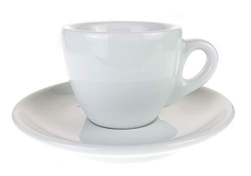 Moka Consorten Extra dickwandige italienische Espressotasse »Verona« (0,85 cm Tassenwand/max. 65 ml), handgemacht (6 Tassen & Untertassen) / Made in Italy - Aus Cappuccino-tassen Italien