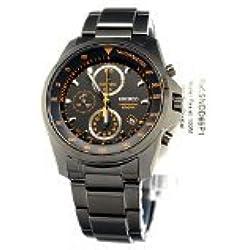 Seiko SNDD65P1's Watch Quartz Chronograph Black Dial Black Bracelet Silver Plated Steel