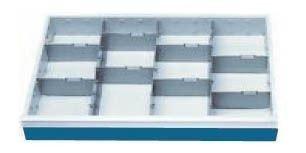 Schubladeneinsatz Serie T500-6 Mittelfachschienen mit Trennwänden Schubladenschränke...