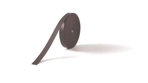 Nobo 1901131 Magnetstreifenband für Markierungen auf Planungstafeln, 5 m x 10 mm, 1 Stück, schwarz