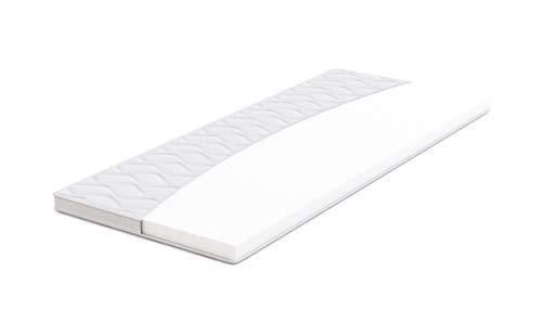 AmazonBasics - Sobrecolchón, espuma de alta resistencia, semi firme H3 - 160 x 190 cm