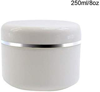 ericotry 6Weiß Kunststoff Topf mit Dome Deckel 8Oz (ministollen) tragbar nachfüllbar Kosmetik Make-up Face Cream Lotion Jar Lip Balm Lotion Container Flasche Topf Fall -