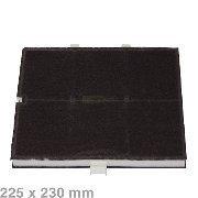 Kohlefilter Aktivkohlefilter mit Halteclips für Dunstabzugshauben 225x260mm für Bosch 361047, Siemens LZ51350
