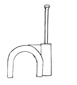 IKU ® GmbH Nagelschelle Kabelschelle Grösse 9 mit Nagel 25 mm - 200 Stück von IKu GmbH auf Lampenhans.de