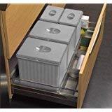 Pattumiera per base cestone 90 cm sottolavello cucina - 4 secchi H. 25 raccolta differenziata cassettone - 906