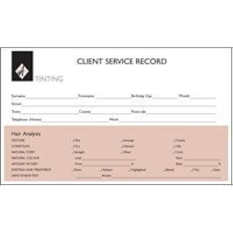 Agenda cliente Tarjetas de registro Tinte 100unidades