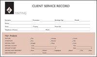 Agenda Kunden-Karteikarten für Haartönungen, 100 Stück