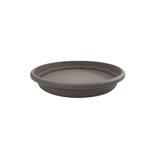 PLASTIKEN plateau rond Ø 50 cm pour pot rond - Taupe