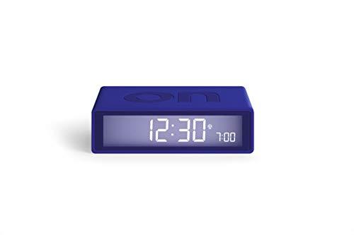 Lexon Flip+ - Reloj Despertador con Pantalla LCD, Color Azul