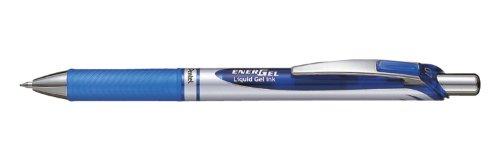 Pentel–Set di 3penne roller a inchiostro gel EnerGel BL77, Blu