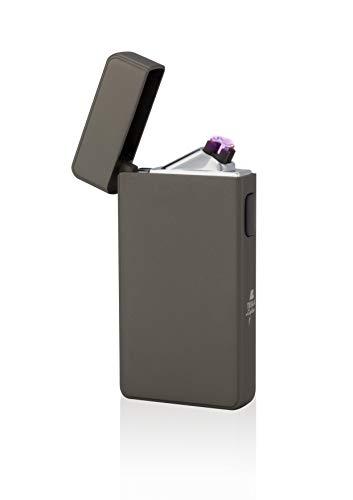 TESLA Lighter T13 Lichtbogen-Feuerzeug, elektronisches USB Feuerzeug, Double-Arc Lighter, wiederaufladbar, Gunmetal/Anthrazit
