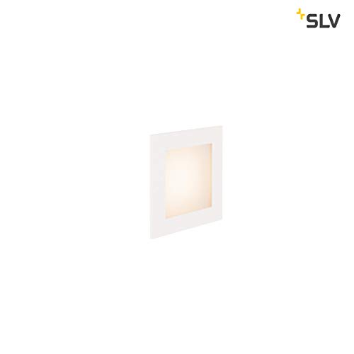 SLV LED Einbauleuchte Frame Basic | Wand- und Deckenleuchte für den Einbau | Eckig, Weiß, 2700K Warmweiß | Stilvolle Wandleuchte, Einbau-Strahler LED Treppen-Beleuchtung, Stufen-Licht, Treppenlicht