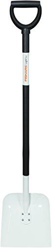 Fiskars Schaufel, Breite 24 cm, Länge 123 cm, Stahl-Blatt/Aluminium-Stiel, Schwarz/Weiß, Light, 1019602