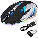 Leoie LED Wireless Optical Gaming Mouse Rechargeable X7 High Resolution Ergonomic Mice