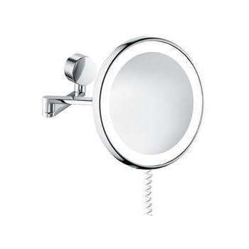 sam kosmetikspiegel beleuchtet rund chrom 5503724010 baumarkt. Black Bedroom Furniture Sets. Home Design Ideas