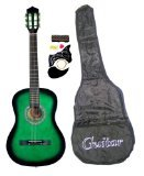 38-Inch-Student-Beginners-GREEN-Acoustic-Guitar-with-Carrying-Case-&-Accessories-&-DirectlyCheap(TM