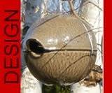 hochwertiges design Keramik Vogelhaus - Nistkasten - Zaunkönigkugel Sand