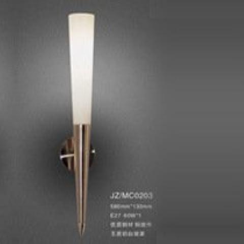 midtawer La pared de cristal Lámpara luces de cristal de vidrio blanco leche minimalista hotel apliques de pared de vidrio cono de ingeniería