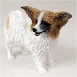 Papillon, Brown/White Original Dog Figurine (4in-5in) by Conversation Concepts -