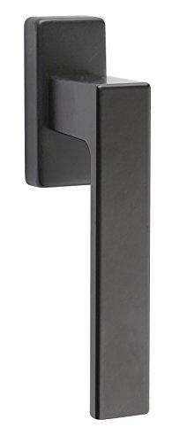 fensterolive edelstahl Aluminium Fenstergriff schwarz Fensterolive auf Oval-Rosette | Drehkipp-Rasterolive ohne Schließzylinder | Modell PUSH 1317 | Griff Alu schwarz pulverbeschichtet | Baubeschläge von GedoTec®
