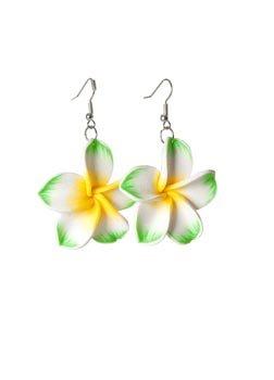 Generique - Hawaii Ohrringe Grüne Blume für ()