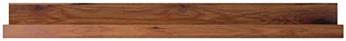WOHNLING Wandregal Massiv-Holz Sheesham Holzregal 160 cm breit Landhaus-Stil Hönge-Regal Echt-Holz Wand-Board Natur-Produkt Wandkonsole dunkel-braun Brett unbehandelt Regale zum Aufhöngen Unikat Ablage