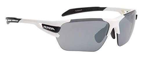 Alpina Sonnenbrille Amition TRI-SCRAY S Sportbrille, white-black, One Size