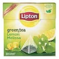 Lipton te verde con limone e melissa,bustine lusso a piramide con vere foglie di te,collezione esclusiva,4 scatole - Lipton Bustine Di Tè