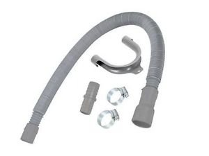 Washing Machine Dishwasher Drain Waste Hose Extension Kit 2Mtr (Stretch 66-200cm) from Lazer Electrics