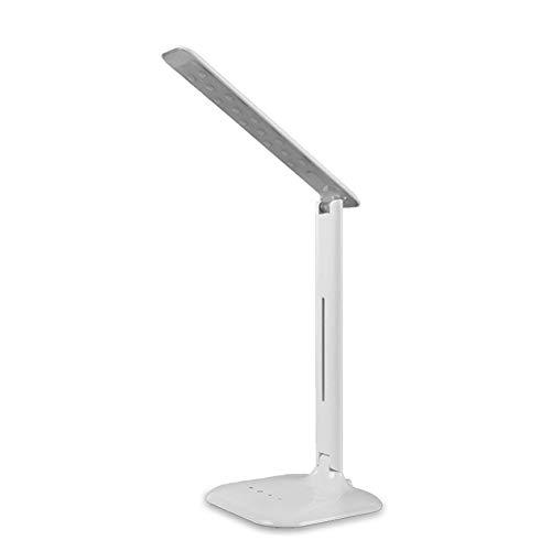 Schreibtischleselampe, Berühren Dimmbar LED-Schreibtischleuchte Wohnheim USB Tischleuchte 4W Büro Geschäft Minimalistisch Haushalts-Nachttischlampe tragbar Falten,White
