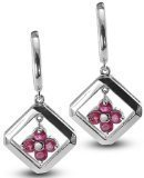 clevereve-luxury-series-one-pair-clover-silver-earrings-w-3mm-genuine-round